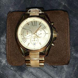 Michael Kors MK5722 Bradshaw Goldtone & Horn Watch